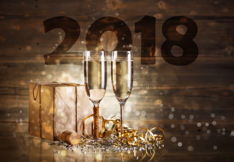 Concepto del Año Nuevo 2018 fotos de archivo libres de regalías