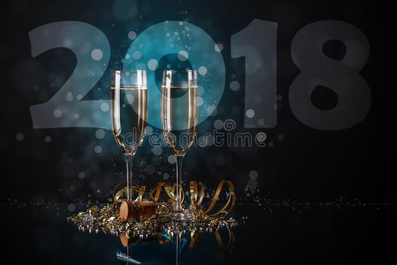 Concepto del Año Nuevo 2018 imagenes de archivo