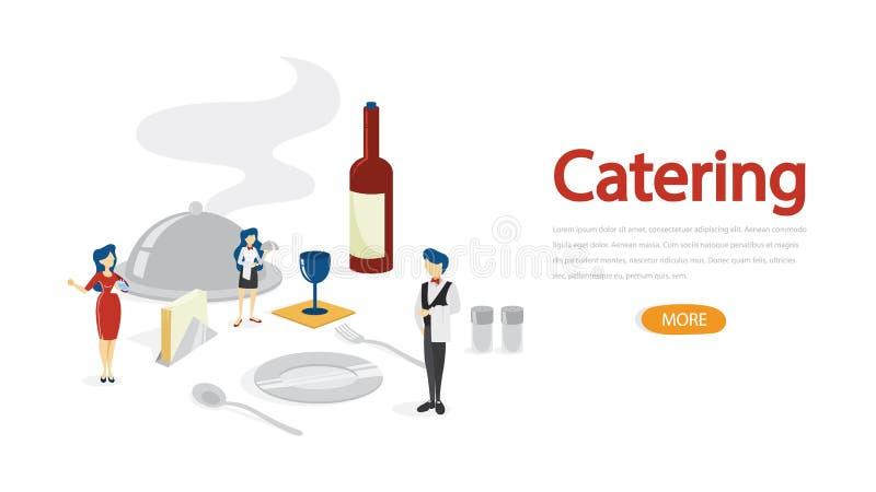 Concepto del abastecimiento Idea de la alimentación en el hotel ilustración del vector