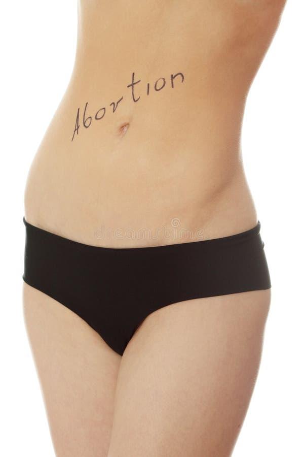 Concepto del aborto foto de archivo