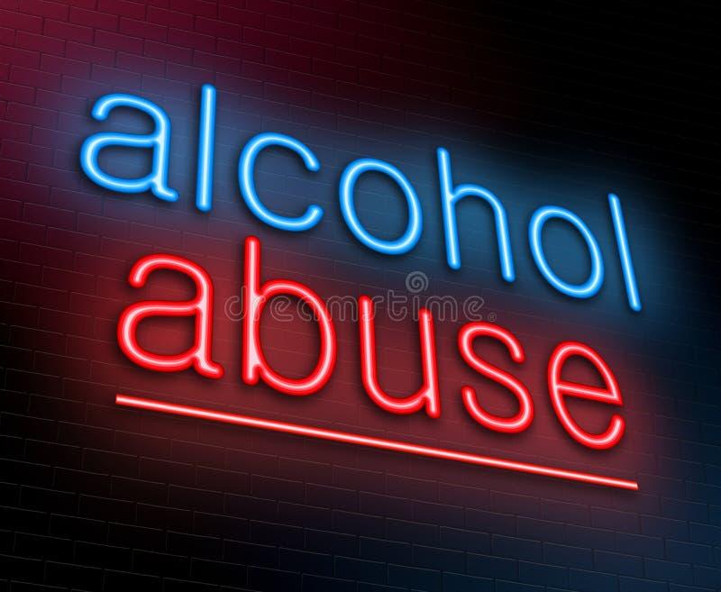 Concepto del abuso de alcohol. stock de ilustración