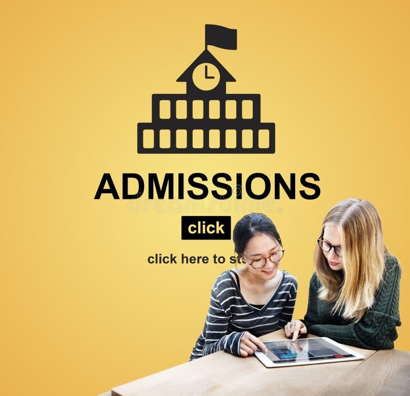 Concepto del Academic de la universidad del conocimiento de la educación de las admisiones imagen de archivo libre de regalías