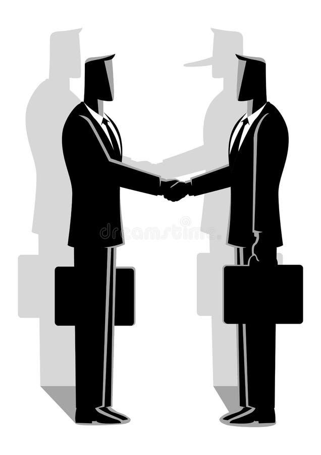 Concepto del acuerdo del fraude ilustración del vector
