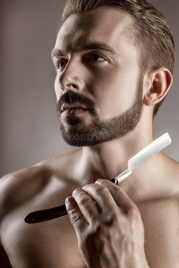 Concepto del afeitado imagen de archivo
