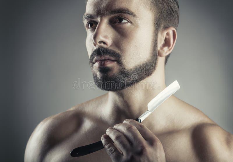Concepto del afeitado imagenes de archivo