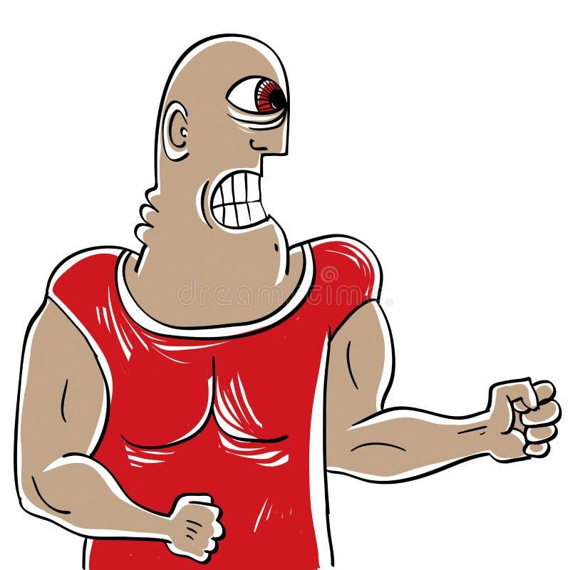 Concepto del agresor, ejemplo a mano de un sho extraño de la persona libre illustration