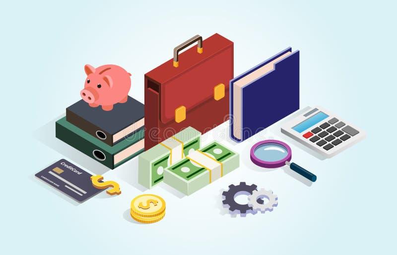 Concepto del ahorro del dinero libre illustration