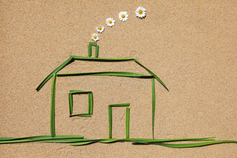 Concepto del aire limpio: casa imágenes de archivo libres de regalías