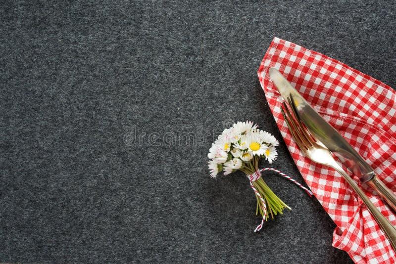 Concepto del ajuste de la tabla de Oktoberfest foto de archivo libre de regalías