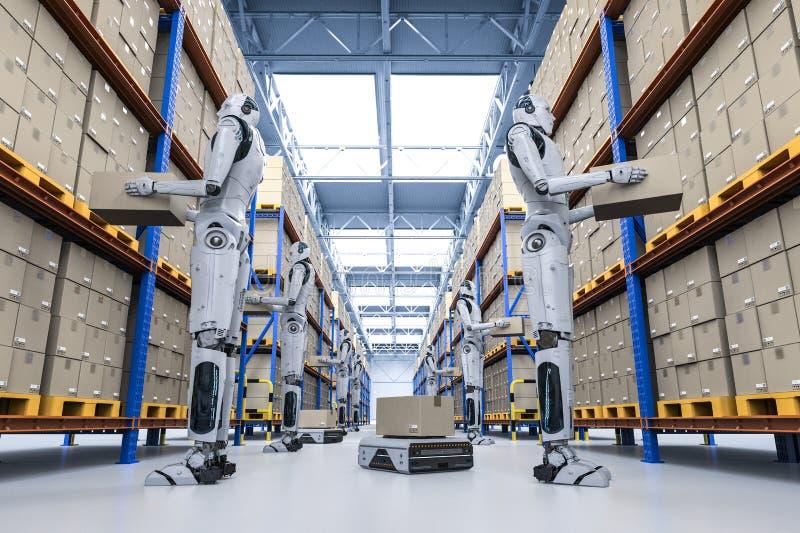 Concepto del almacén de la automatización