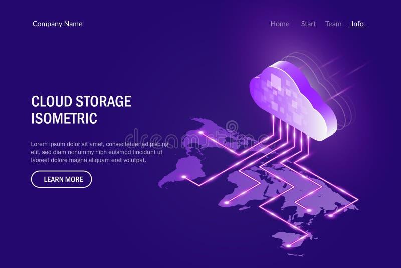 Concepto del almacenamiento de la nube E r libre illustration