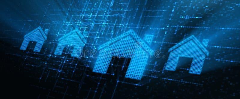Concepto del alquiler de la gestión de la propiedad de la hipoteca de Real Estate ilustración del vector