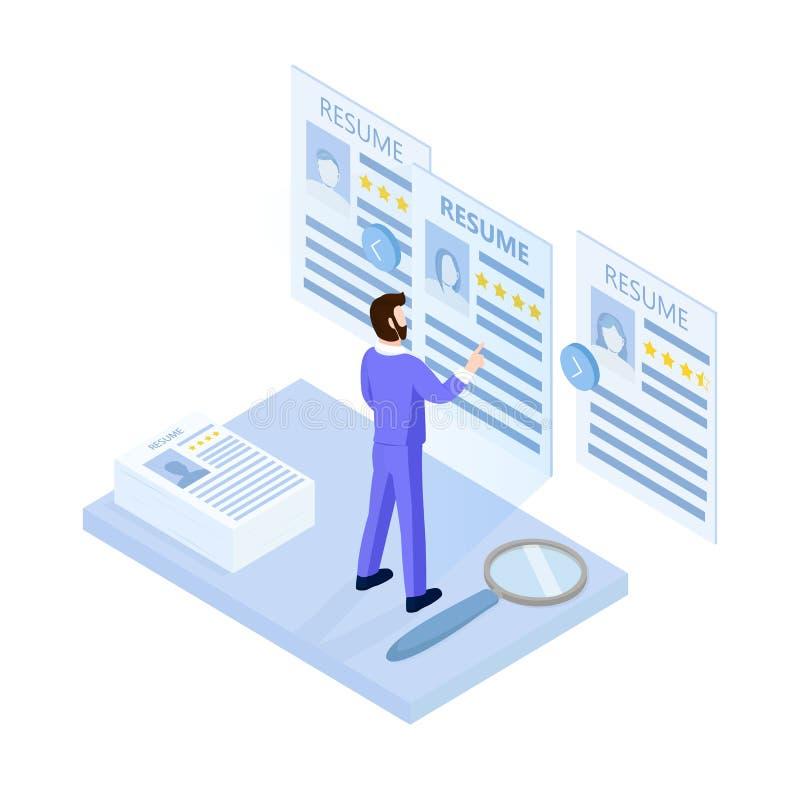 Concepto del alquiler y del reclutamiento libre illustration