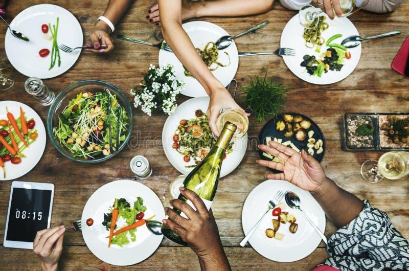 Concepto del alumerzo de Foodie del partido del restaurante de la comida fotos de archivo