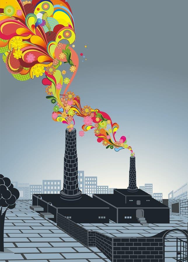 Concepto del ambiente, calentamiento del planeta libre illustration