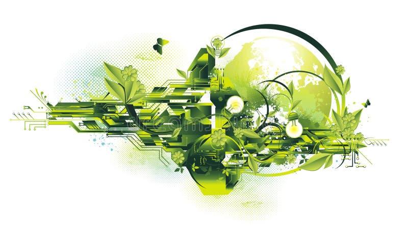 Concepto del ambiente y de la energía ilustración del vector