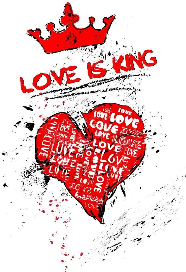 Concepto del amor ilustración del vector