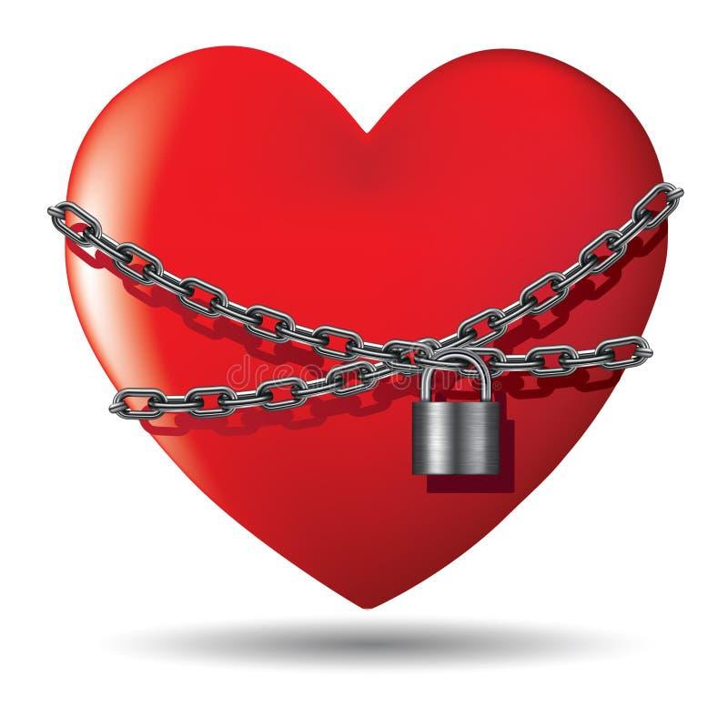 Concepto del amor stock de ilustración