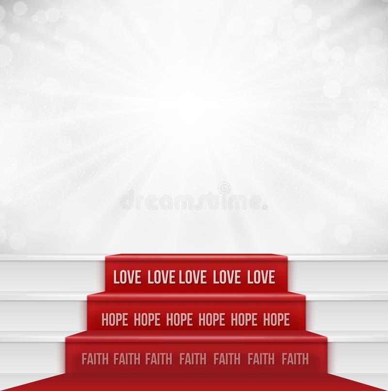 Concepto del amor de la esperanza de la fe stock de ilustración