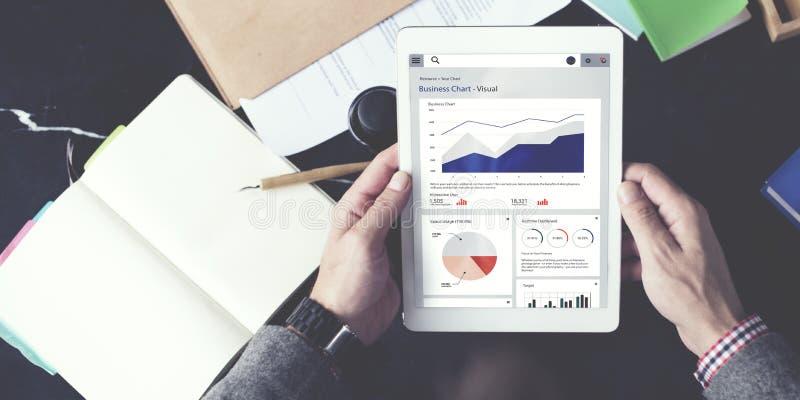 Concepto del análisis de planeamiento de la estadística del informe de la carta de negocio fotografía de archivo libre de regalías