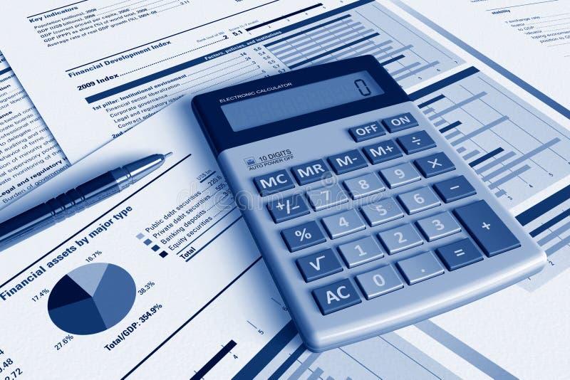 Concepto del análisis financiero ilustración del vector