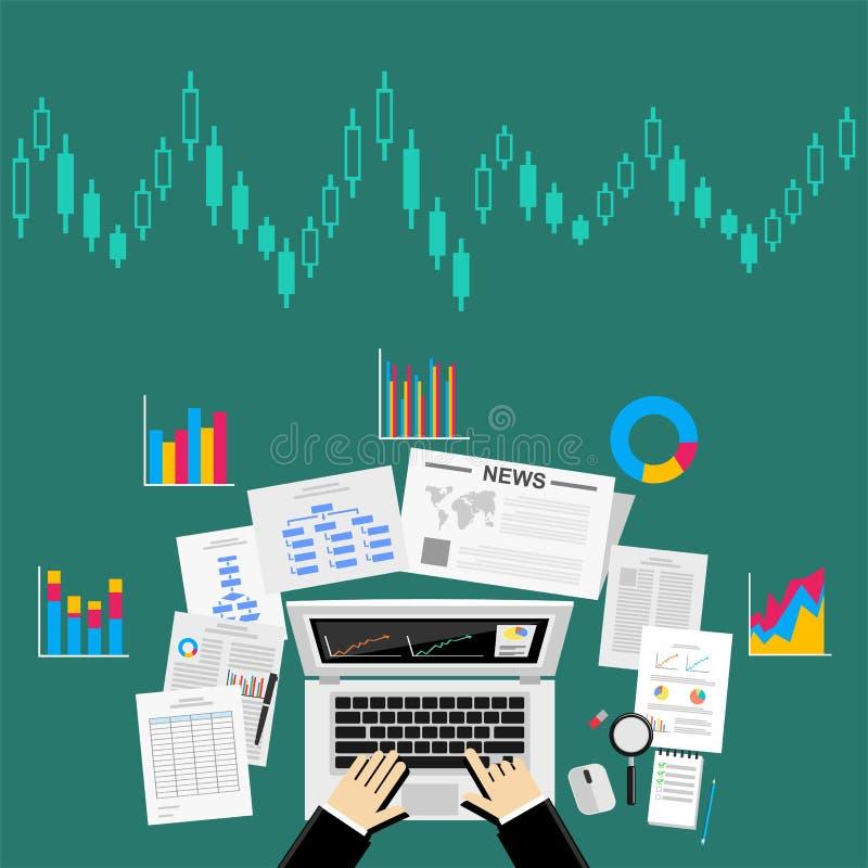 Concepto del analytics de los datos de Business del analista del negocio libre illustration