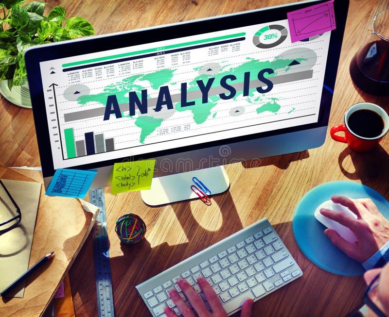 Concepto del Analytics del márketing de la estrategia del planeamiento del análisis foto de archivo libre de regalías