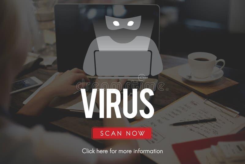 Concepto del antivirus de Malware del Spyware del virus de Scam fotos de archivo libres de regalías