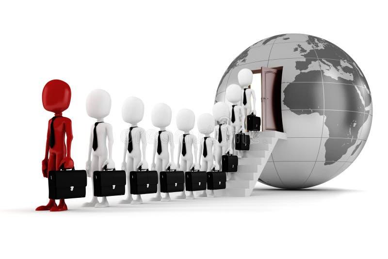 concepto del asunto global del hombre 3d ilustración del vector