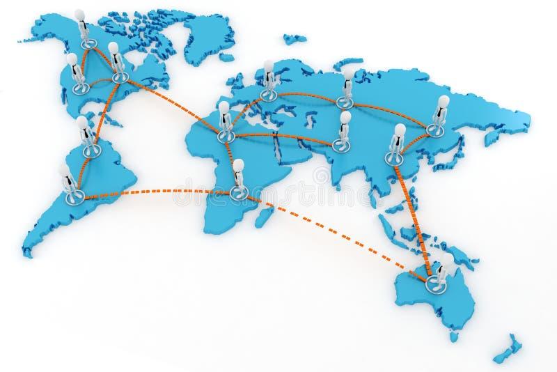 concepto del asunto global del hombre 3d libre illustration