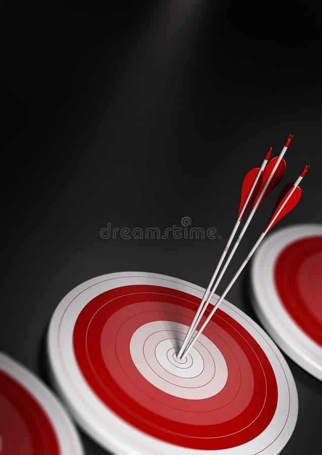 Concepto del asunto, mercado de blanco stategy ilustración del vector