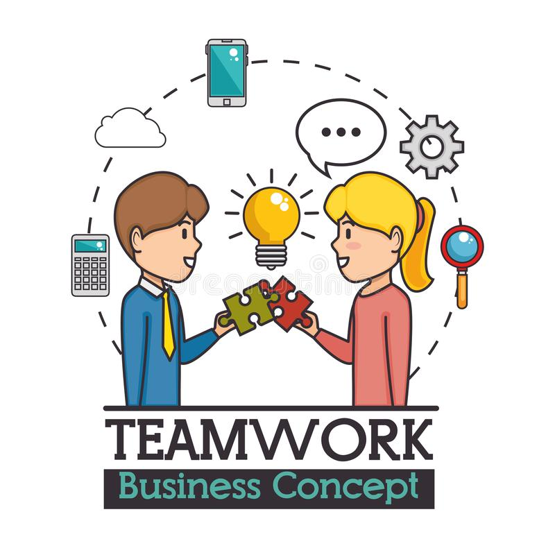 Concepto del asunto del trabajo en equipo libre illustration