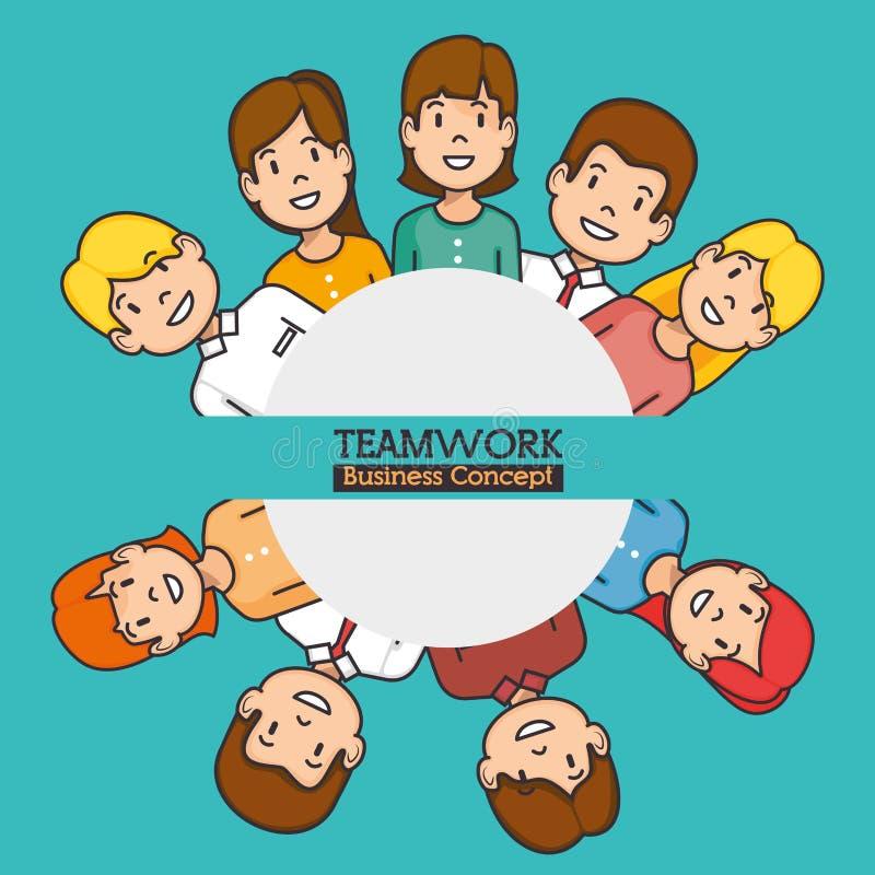 Concepto del asunto del trabajo en equipo ilustración del vector