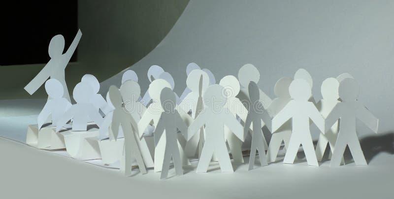 Concepto del asunto un equipo grande de mu?eca de papel imágenes de archivo libres de regalías