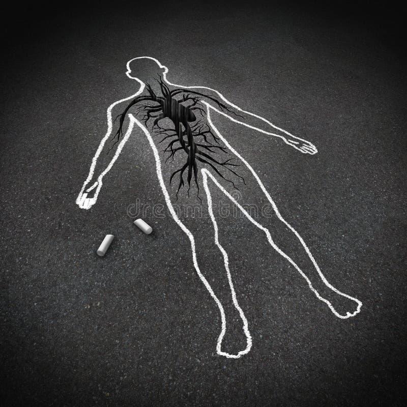 Concepto del ataque del corazón libre illustration