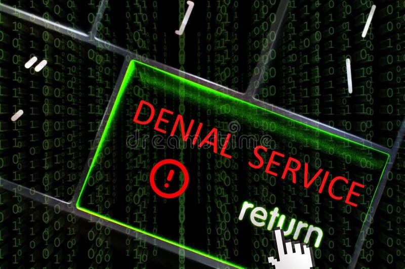 Concepto del ataque del servicio de la negación con el foco en el extremo de vuelta libre illustration