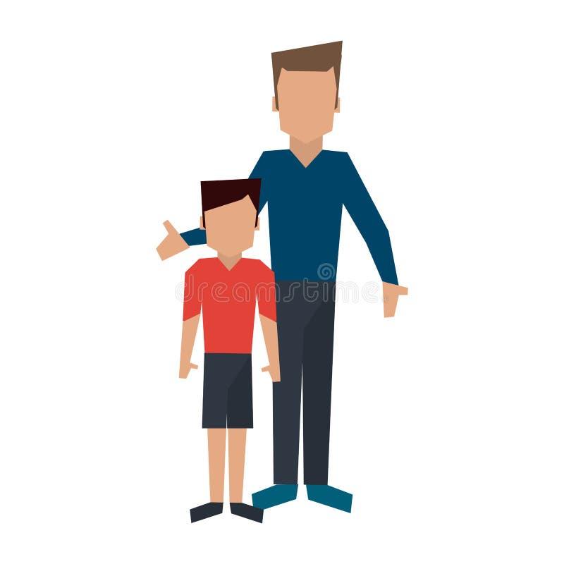 Concepto del avatar de la familia libre illustration