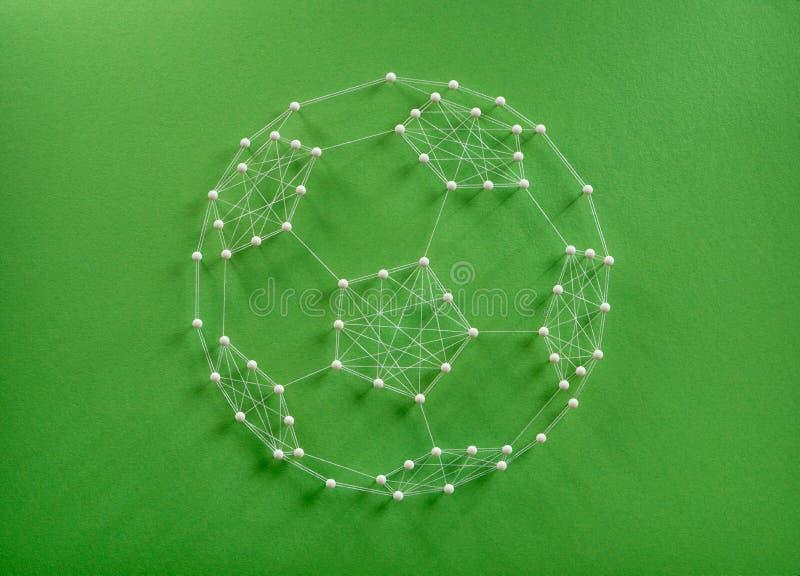 Concepto del bal?n de f?tbol imágenes de archivo libres de regalías