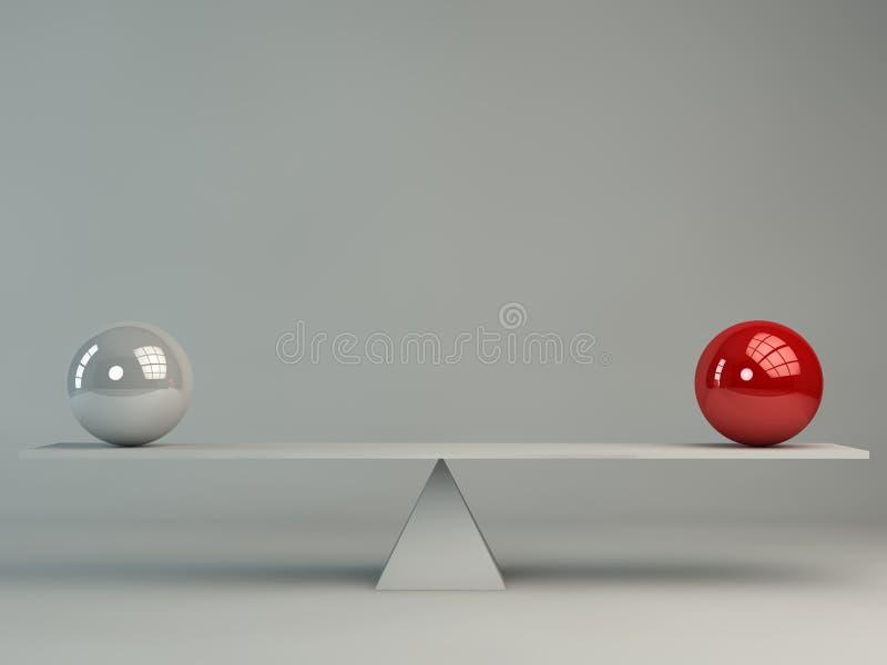 Concepto del balance de dos esferas libre illustration