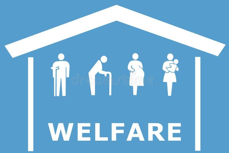 Concepto del bienestar en fondo azul foto de archivo