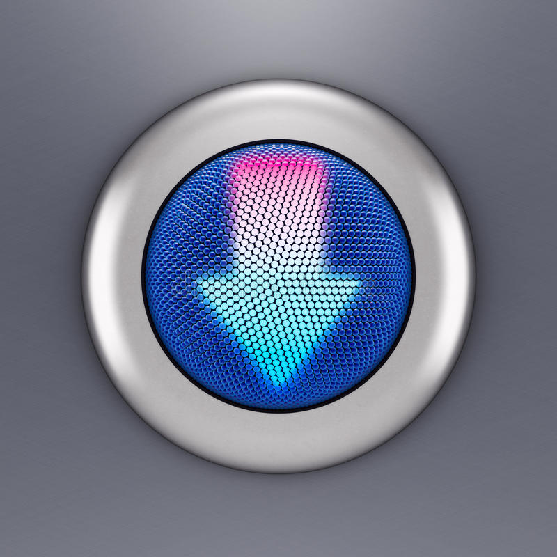 Concepto del botón de la flecha libre illustration