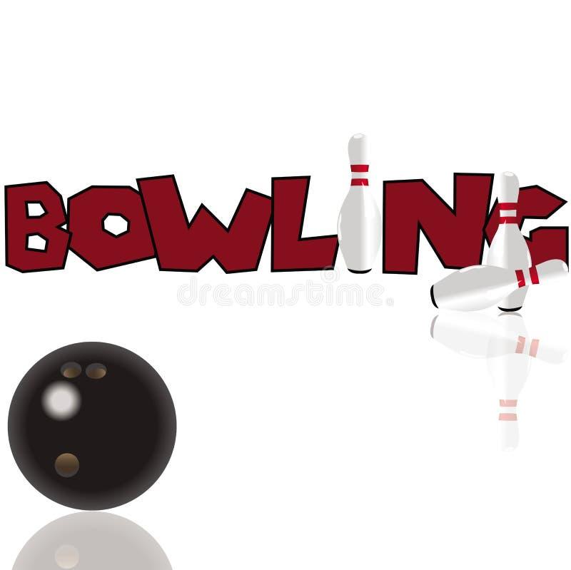 Concepto del bowling stock de ilustración