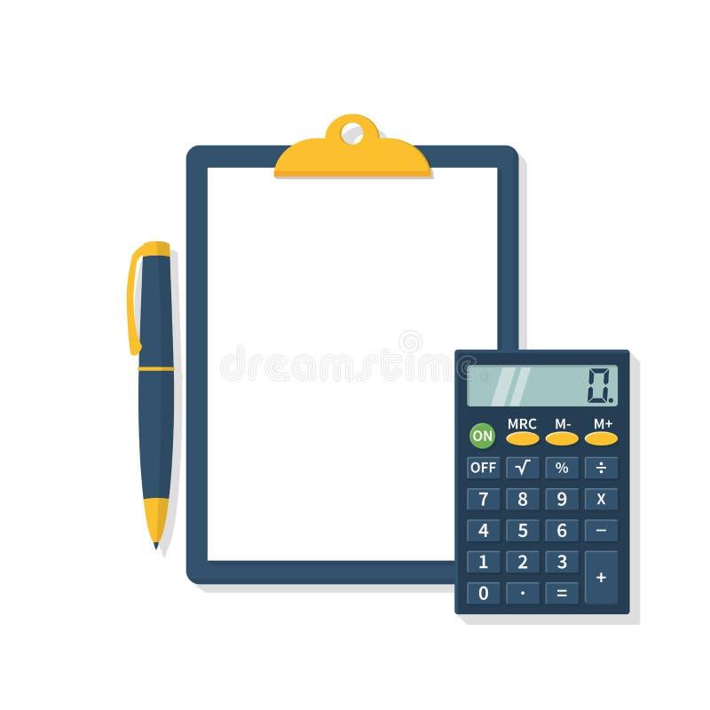 Concepto del cálculo, vector ilustración del vector