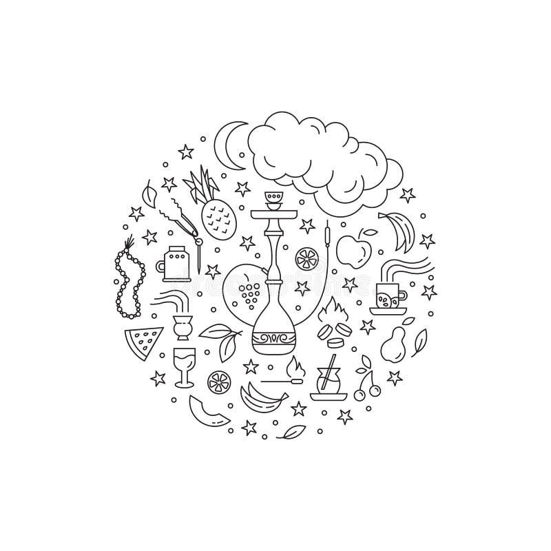 Concepto del círculo de la cachimba stock de ilustración