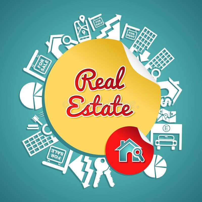 Concepto del círculo de las propiedades inmobiliarias libre illustration