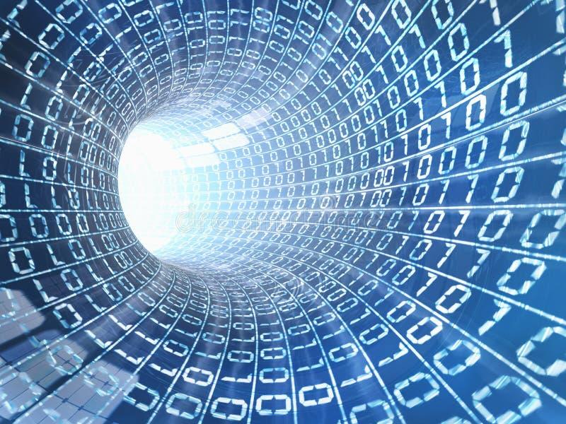 Concepto del cable del Internet stock de ilustración