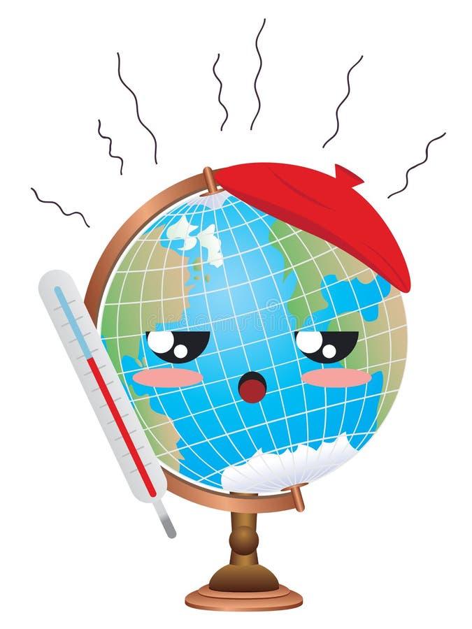 Concepto del calentamiento del planeta stock de ilustración