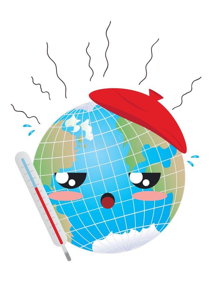 Concepto del calentamiento del planeta libre illustration
