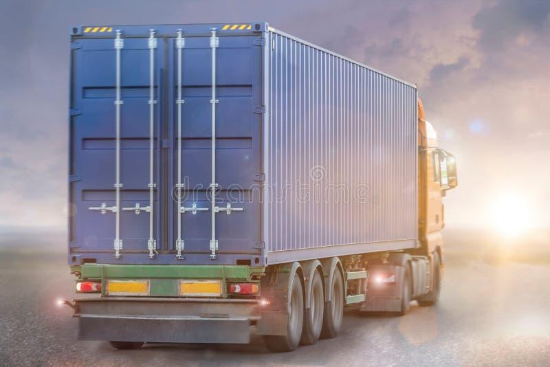 Concepto del camión del envase imagenes de archivo