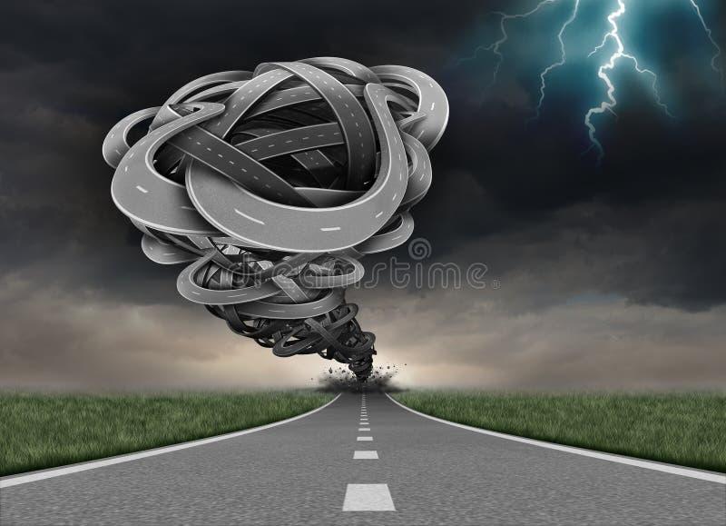 Concepto del camino del tornado stock de ilustración